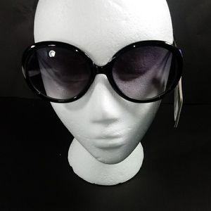 NWT Foster Grant Oversized Round Black Sunglasses